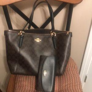 Authentic Coach Shoulder bag & Large Wallet